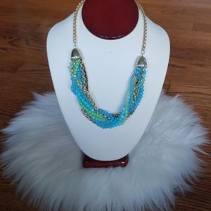 charter club gold & colorful beads women necklace